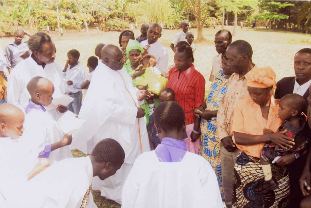 Fr. Jo Kizito, Christmas Mass 2009 at Kyangwali Refugee Settlement, Uganda