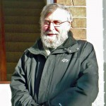 Canon John Koenig outside the Presbytery, 2009