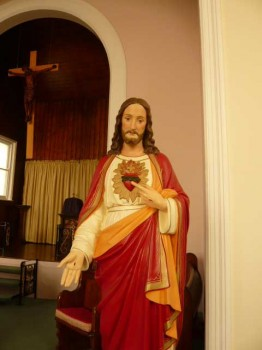 Sacred Heart statue in Holy Trinity church