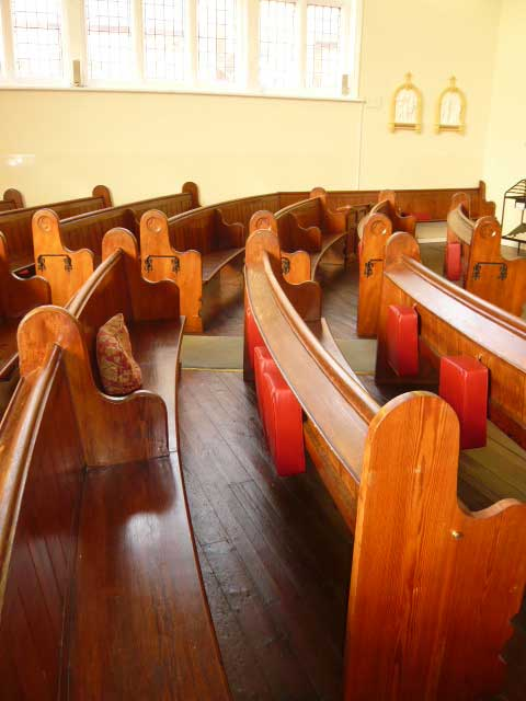 Pews at Holy Trinity Church, Desborough