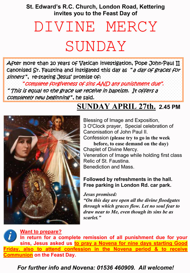Invitation to Divine Mercy Sunday 2014