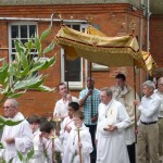 Fr. Andy Richardson in St. Edward's Parish Corpus Christi procession 2010
