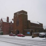 St. Edward's church in the snow, 2008