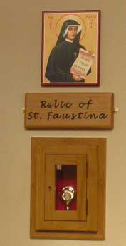 Relic of St. Faustina in St. Edward's Church, Kettering