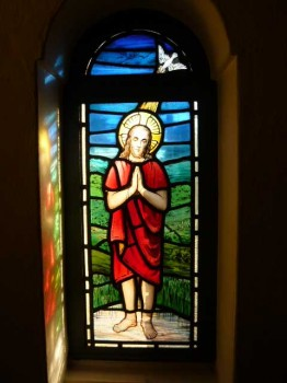 Stained Glass Window of the Baptism of Jesus