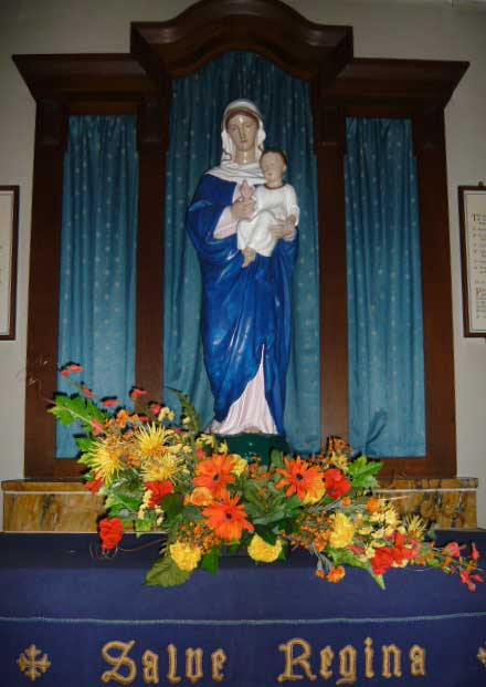Madonna and Child on the Lady altar of St. Edward's church, Kettering