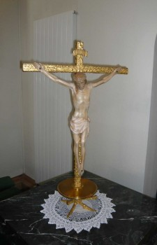 Crucifix on the chancel at St. Edward's church, Kettering