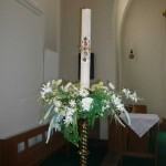 Paschal candle at St. Edward's Church, Kettering