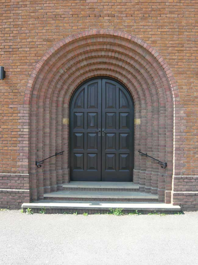 Main entrance door to St. Edward's Church, Kettering
