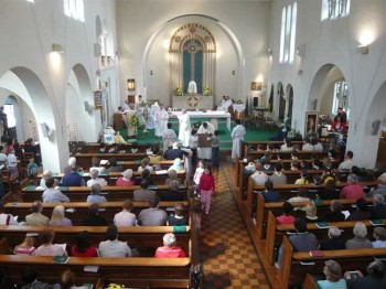 Mass at St. Edward's Church, Kettering