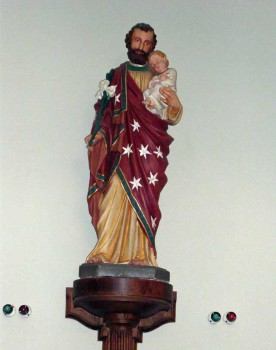 A statue of St. Joseph in St. Edward's Church, Kettering
