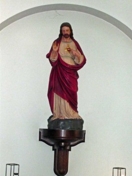 The Sacred Heart Statue in St. Edward's Church, Kettering