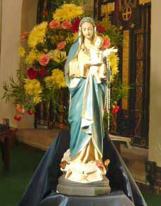 Statue of Our Lady on the sanctuary of St. Edward's church, Kettering