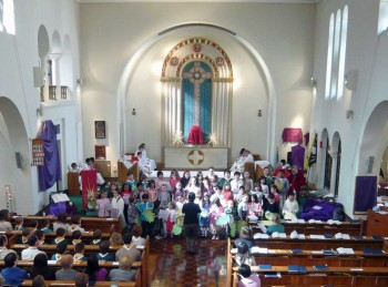 Children's choir at St. Edward's church