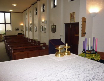 A view across the altar , St. Bernadette's Church, 2013