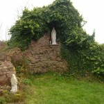 The Lourdes grotto at St. Bernadette's Church, Rothwell