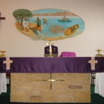 Altar at St. Bernadette's church, Advent, 2013