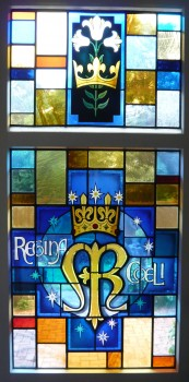Regina Coeli - Stained Glass Door in the Convent of the Sisters of Our Lady