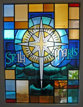 Stella Maris - Stained Glass Door in the Convent of the Sisters of Our Lady