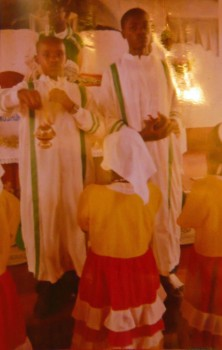 Isaac with the thurible and Joseph, 2011