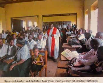 Fr. Jo, staff and pupils of Kyangwali secondary school