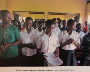 school choir at Kyangwali secondary school, 2013