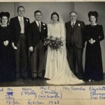 Wedding in 1943 of Kathleen Scanlon to Tom O'Malley at St. Edward's Church, Kettering