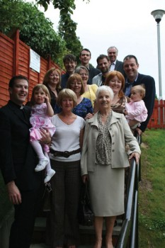 Fr. Andy Richardson and family after ordination in 2008