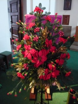 A flower display in St. Edward's church