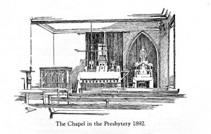 Pencil Sketch by C.Dudley Brown of 13 The Grove, the first presbytery