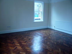 Parquet flooring renovated in St. Edward's presbytery, 2009
