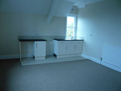 Kitchen inside self-contained flat built into St. Edward's Presbytery during renovations, 2009