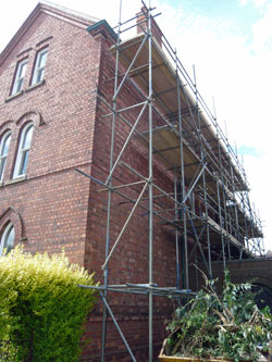 Summer 2009 the Presbytery under scaffolding