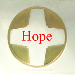 St. Edward's Altar Cross with the word Hope