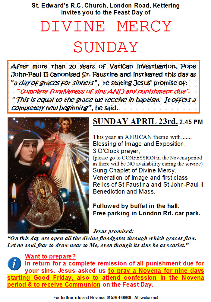 Divine Mercy Invitation Poster 2017