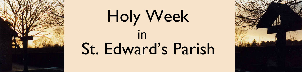 Services and Activities Holy Week 2018