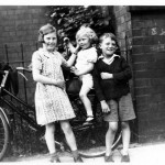 Maud, Nellie and John Topping and Raymond Winters evacuees to Kettering
