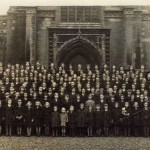 St. Aloysius Convent School, outside of St. Peter and Paul Church, Kettering, September 3rd, 1939, one day after being evacuated to Kettering