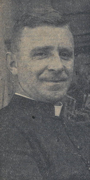 Fr. William H. Hunting. standard photograph used by the Northants Evening Telegraph for articles which featured Fr. Hunting