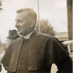 Canon Hunting visiting the parish on September 24th 1946 for the consecration of St. Edward's 'new' church