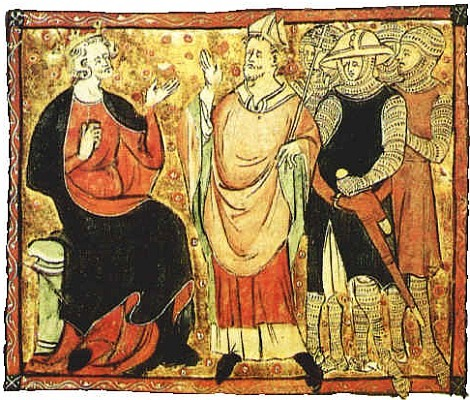 St. Thomas Becket in 14th century illustration