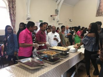 St. Edward's Church, Kettering, July 2017 Enjoying food after International Mass