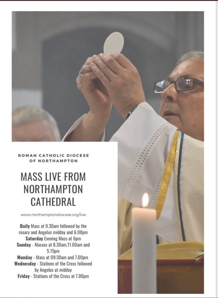 Live Mass at Northampton Cathedral