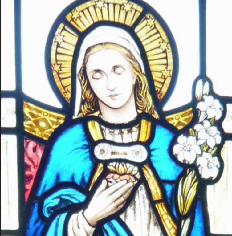 Detail of Our Lady Window, Our Lady Chapel, St. Edward's Church, Kettering