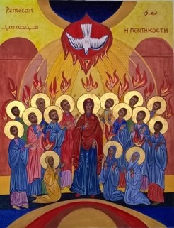 Pentecost Icon at Holy Ghost Luton – written for the parish Golden Jubilee 2015 by Sr M Stella
