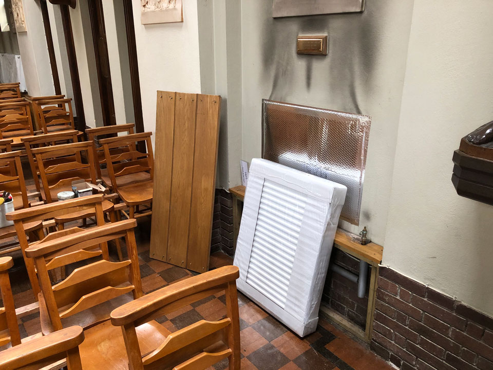 St. Edward's Church repairs - new radiator June 2020