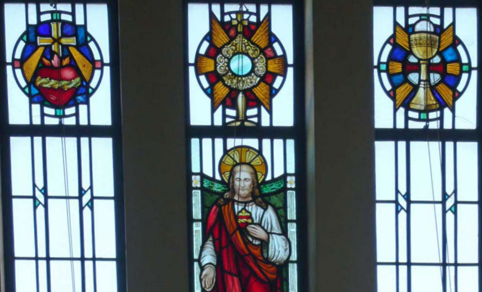 Sacred Heart Window at St. Edward's Church, Kettering
