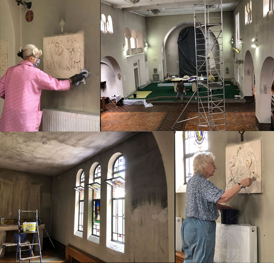 Photo compilation of redecoration of St. Edward's Church, June 2020