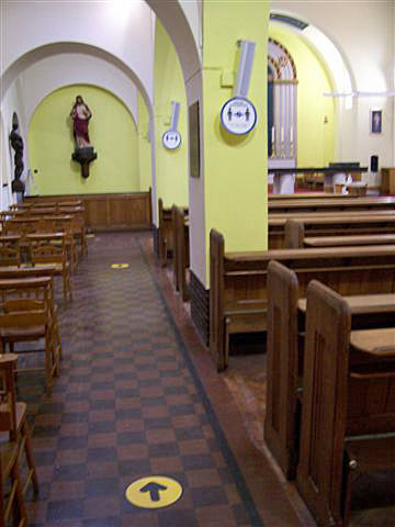 Side aisle of St. Edward's church