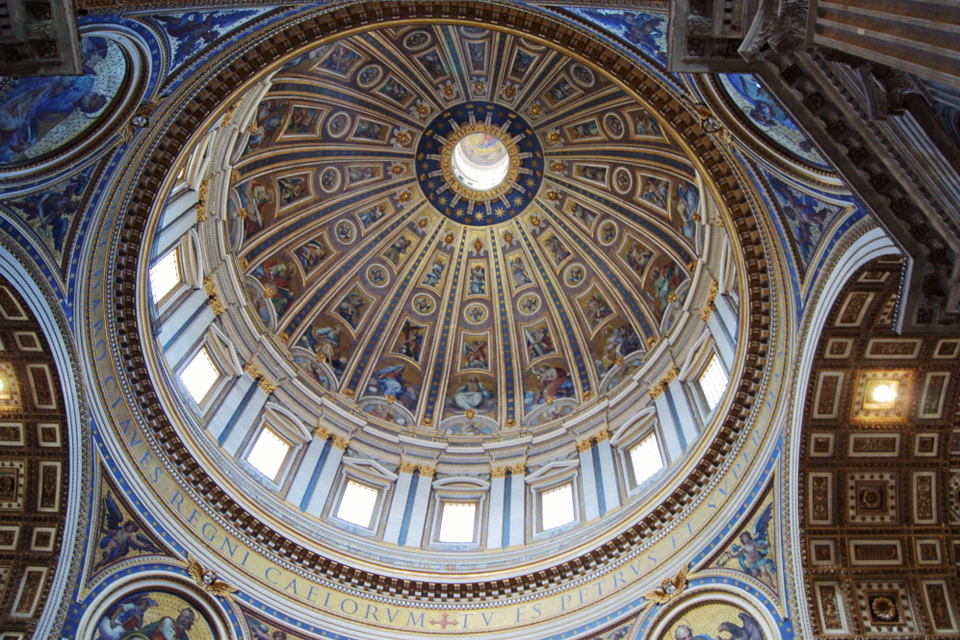 Cupola of St. Peter's Basilica on the Inside